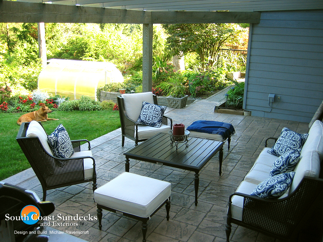 Glass Concrete Patio : Everything patio sundeck building outdoor living space