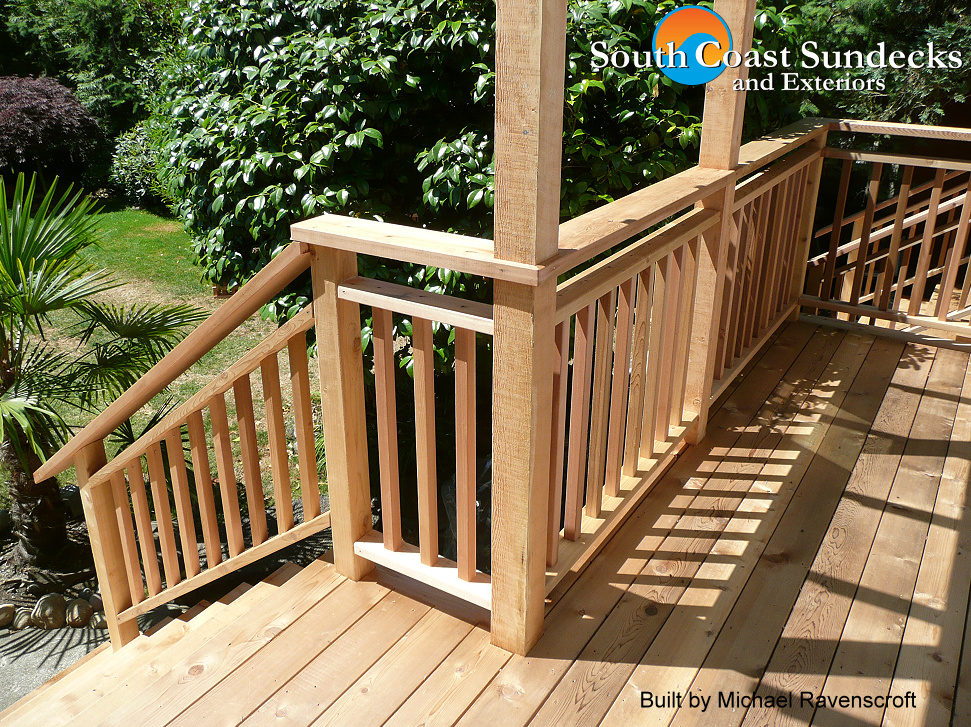 Everything deck patio railings sundeck railing company for Sustainable decking